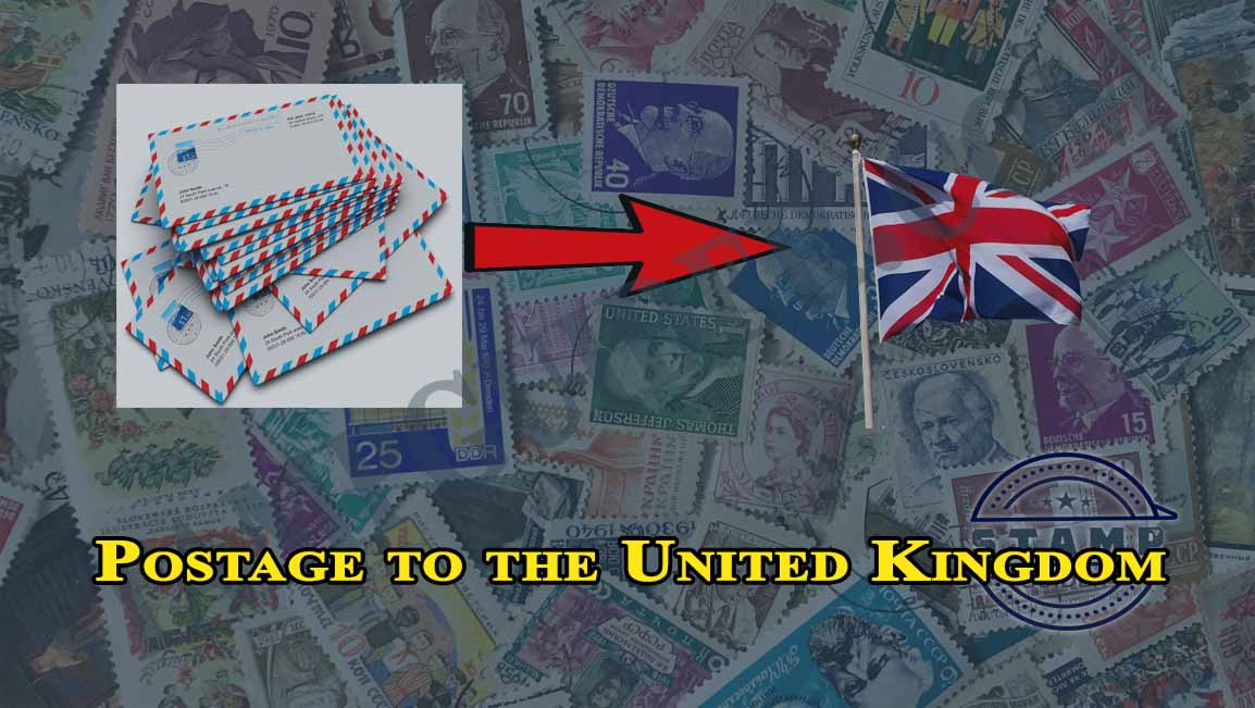 Postage to the United Kingdom