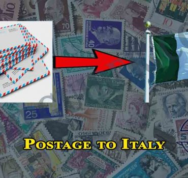 Postage to Italy